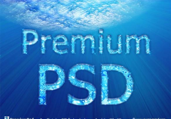 Photoshop Water Text Effect in an Underwater Scene