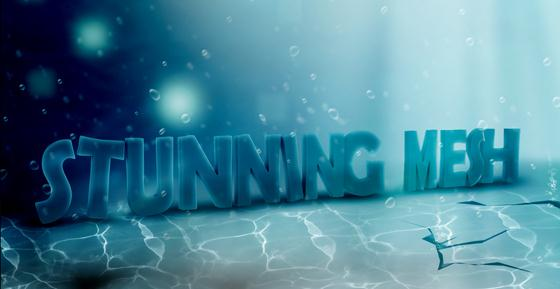 Underwater 3D text effect in Photoshop