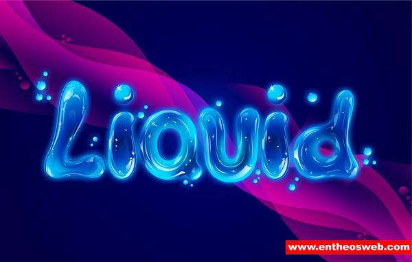Liquid Water Text Effect