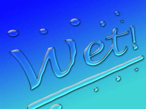 Wet Water Text effect in Photoshop
