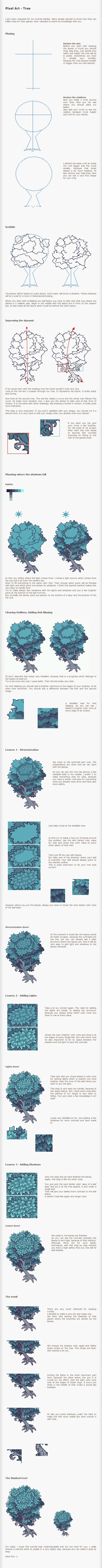 Pixel Art How to Create a Tree