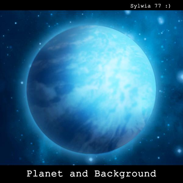 Planet and Background stock by Sylwia77 photoshop resource collected by psd-dude.com from deviantart