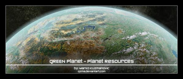 Planet Resources Green Planet by Qzma photoshop resource collected by psd-dude.com from deviantart
