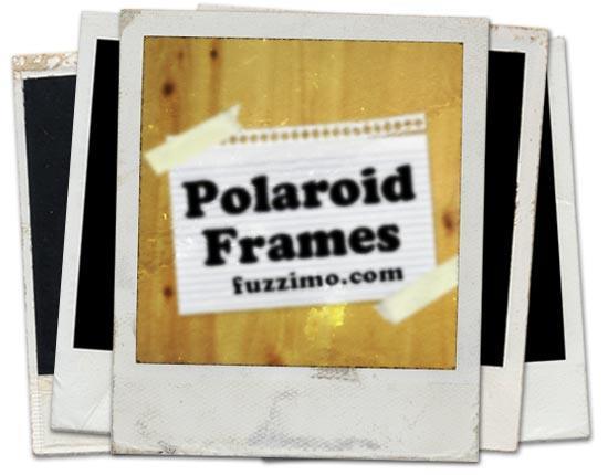 polaroid photo frame psd template collection psddude