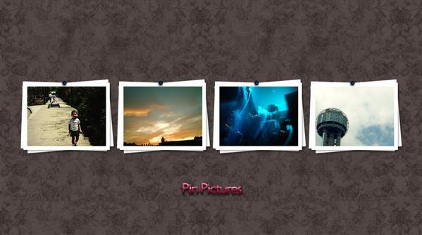 Pin Pictures Photo Frames PSD