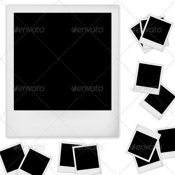 Polaroid Photo Frame Psd Template Collection | Psddude