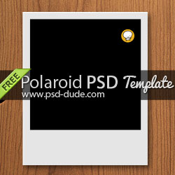 Polaroid Free PSD <span class='searchHighlight'>Template</span> psd-dude.com Resources