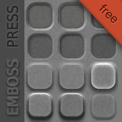 Letterpress and Emboss Photoshop Style Collection psd-dude.com Resources