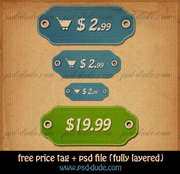 Price tags PSD file