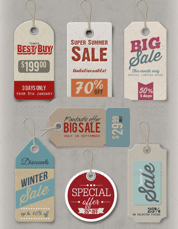 The Best Price Tag PSD File - Premium