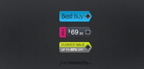 Price tags free PSD template