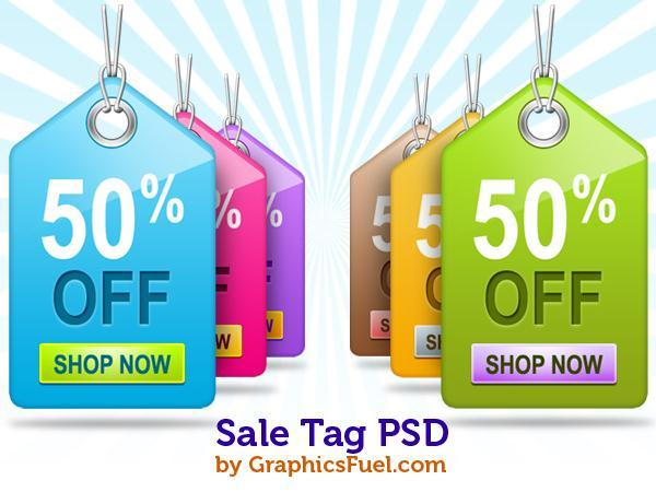 Sale tag PSD Free Files