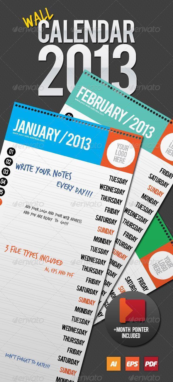 Printable 2013 calendar templates psddude 2013 wall calendar template saigontimesfo