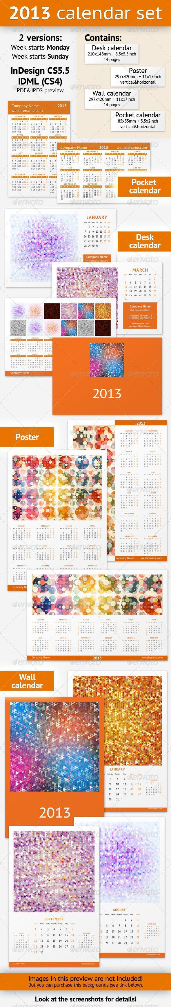 Orange Colorful 2013 Calendar Template