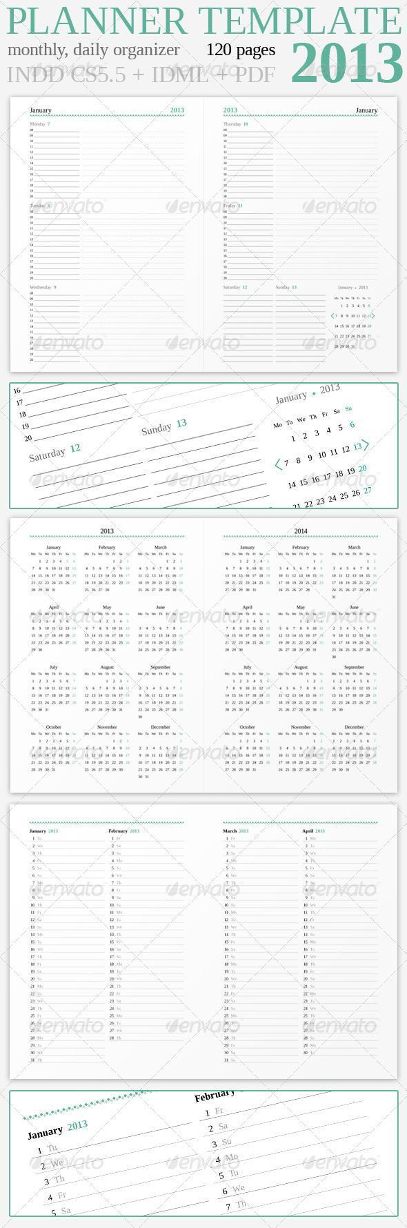 Planner and Calendar for Year 2013