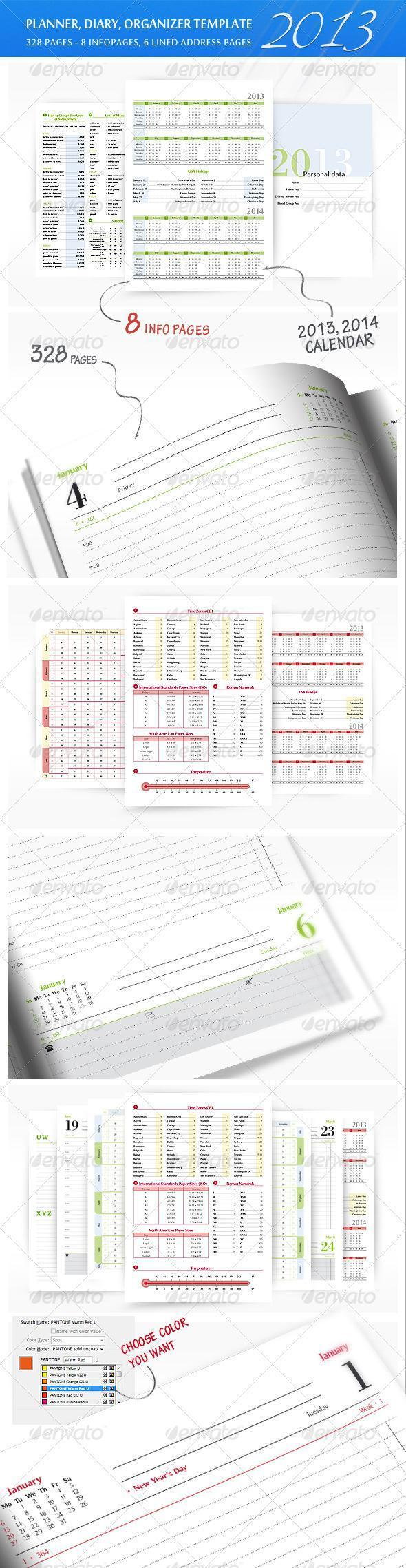 Printable 2013 Planner for Company Prints