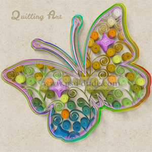 Quilling Paper Art Photoshop Creator Video Tutorial psd-dude.com Resources