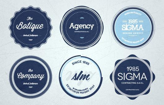 Retro Insignia Badge And Label Psd Files  Psddude