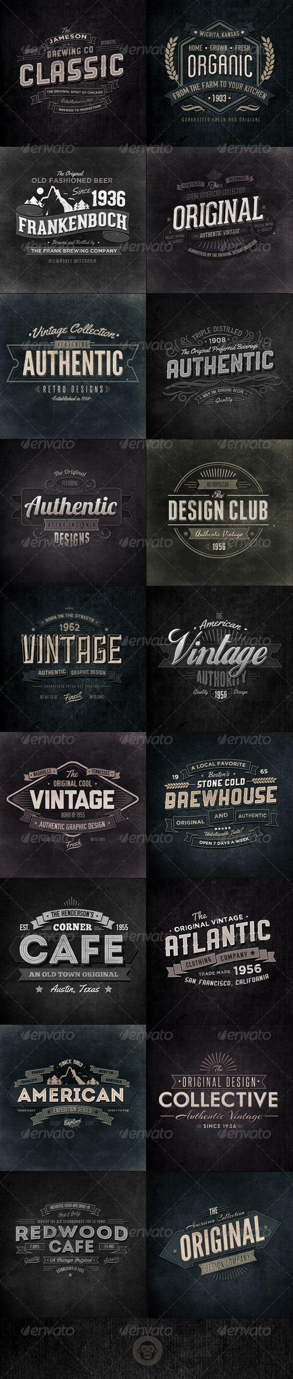 Retro Insignia Badge and Label PSD Files | PSDDude