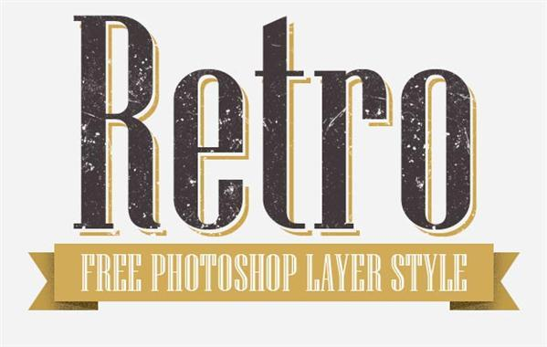 Retro Layer Style for Photoshop - Free