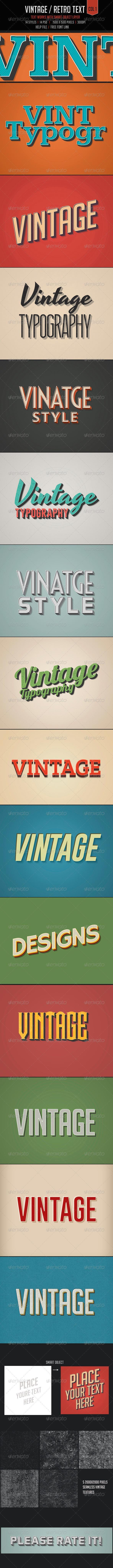 3D Vintage Retro Text Photoshop Style