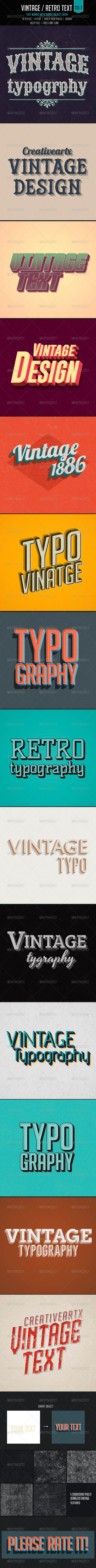 Vintage Retro Typo Photoshop Style