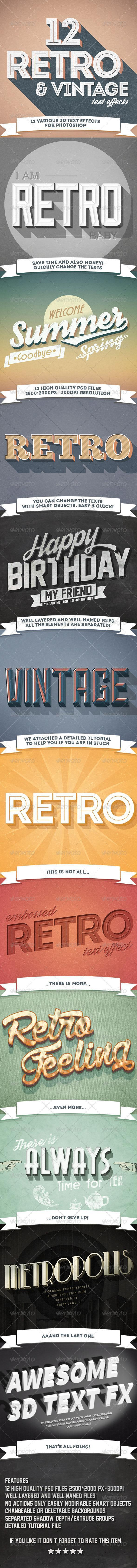Retro and Vintage Photoshop Text Effects