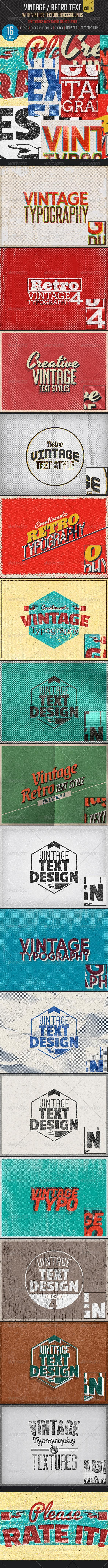 Vintage Typography in Photoshop
