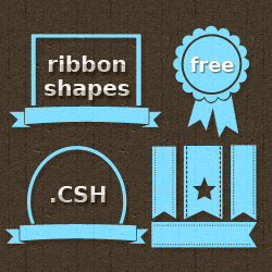 Ribbon Vector Shapes for Photoshop psd-dude.com Resources