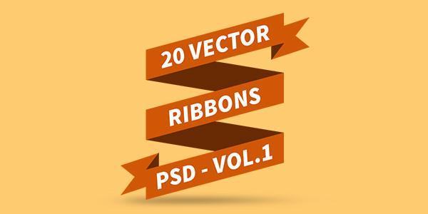 PSD Vector Ribbons