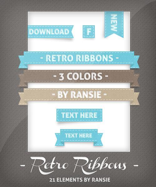 Retro Ribbon PSD File