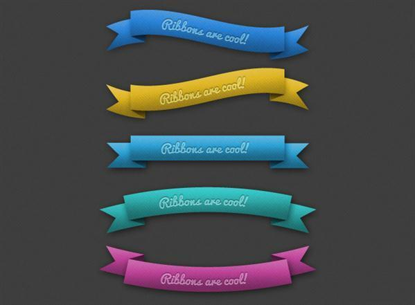 Ribbon Vector Psd Free Download