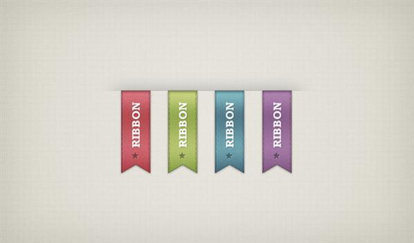 Vertical Ribbon PSD Vector File