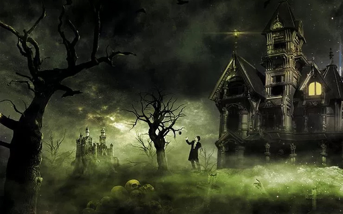 Create an Eerie Haunted House Scene in Photoshop for Halloween
