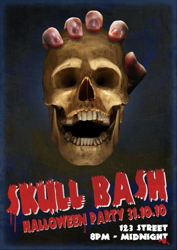 How to design a Halloween skull poster in Photoshop