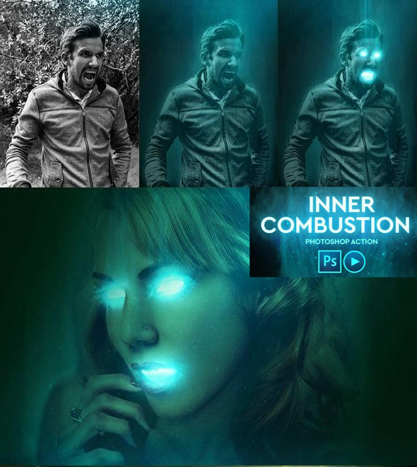 Inner combustion Photoshop Action