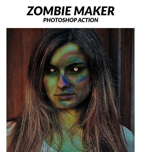 Scary Zombie Maker Photoshop Action