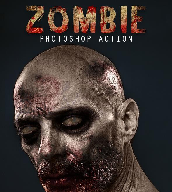 Skull Zombie Photo Effect Photoshop Action