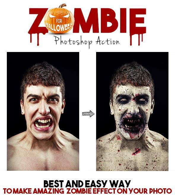 Zombie Portrait Effect Photoshop Action