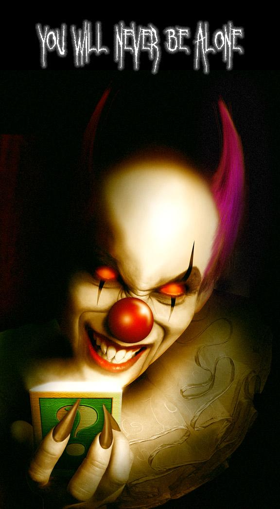 Evil Clown by legio photoshop resource collected by psd-dude.com from deviantart