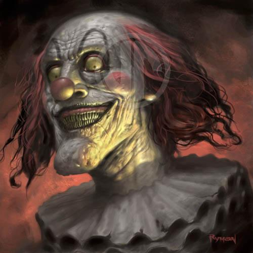 Evil Clown by namesjames photoshop resource collected by psd-dude.com from deviantart