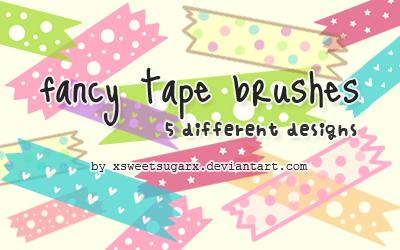 Fancy tape brushes by xsweetsugarx photoshop resource collected by psd-dude.com from deviantart