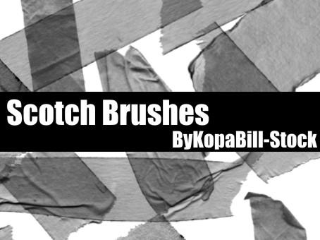 Scotch Brushes by KopaBill-Stock photoshop resource collected by psd-dude.com from deviantart