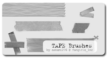 tape brushes by Sanami276 photoshop resource collected by psd-dude.com from deviantart
