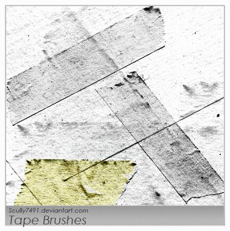 Tape Brushes by Scully7491 photoshop resource collected by psd-dude.com from deviantart