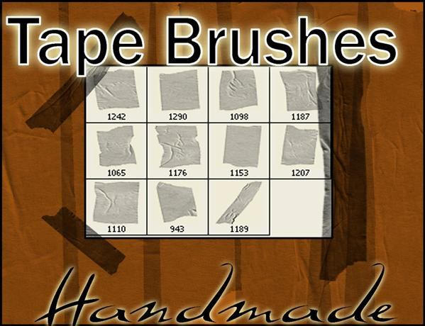 TapeBrushes by crimecontrol photoshop resource collected by psd-dude.com from deviantart