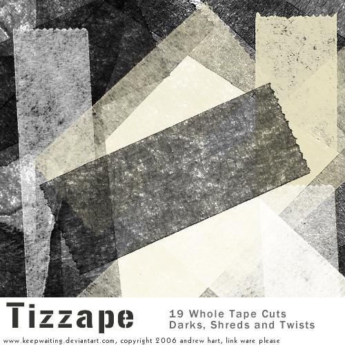 Tizzape Tape Brushes by KeepWaiting photoshop resource collected by psd-dude.com from deviantart