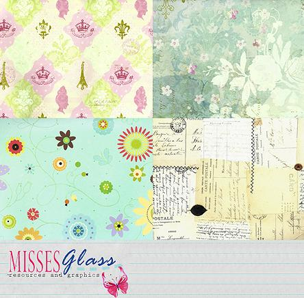 4 large scrapbook scans S17 by Missesglass photoshop resource collected by psd-dude.com from deviantart