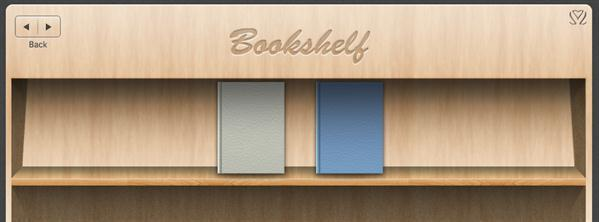PSD file book shelf