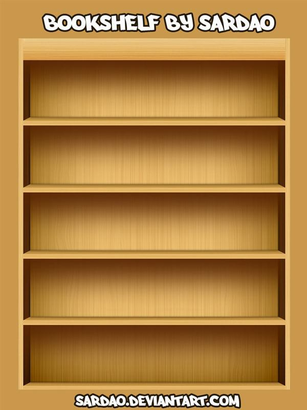 Bookshelf PSD layered file free